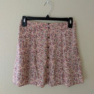 Floral high waisted skirt